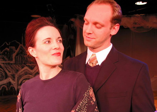 "Maren Maclean and Robbie Vance in ASU West's 2003 production of ""The Dead."" (Photo by CJ Mascarelli)"