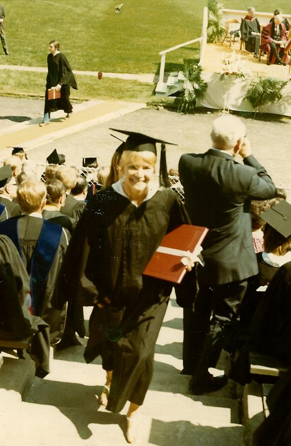 Graduation from Denison University in Granville, Ohio.