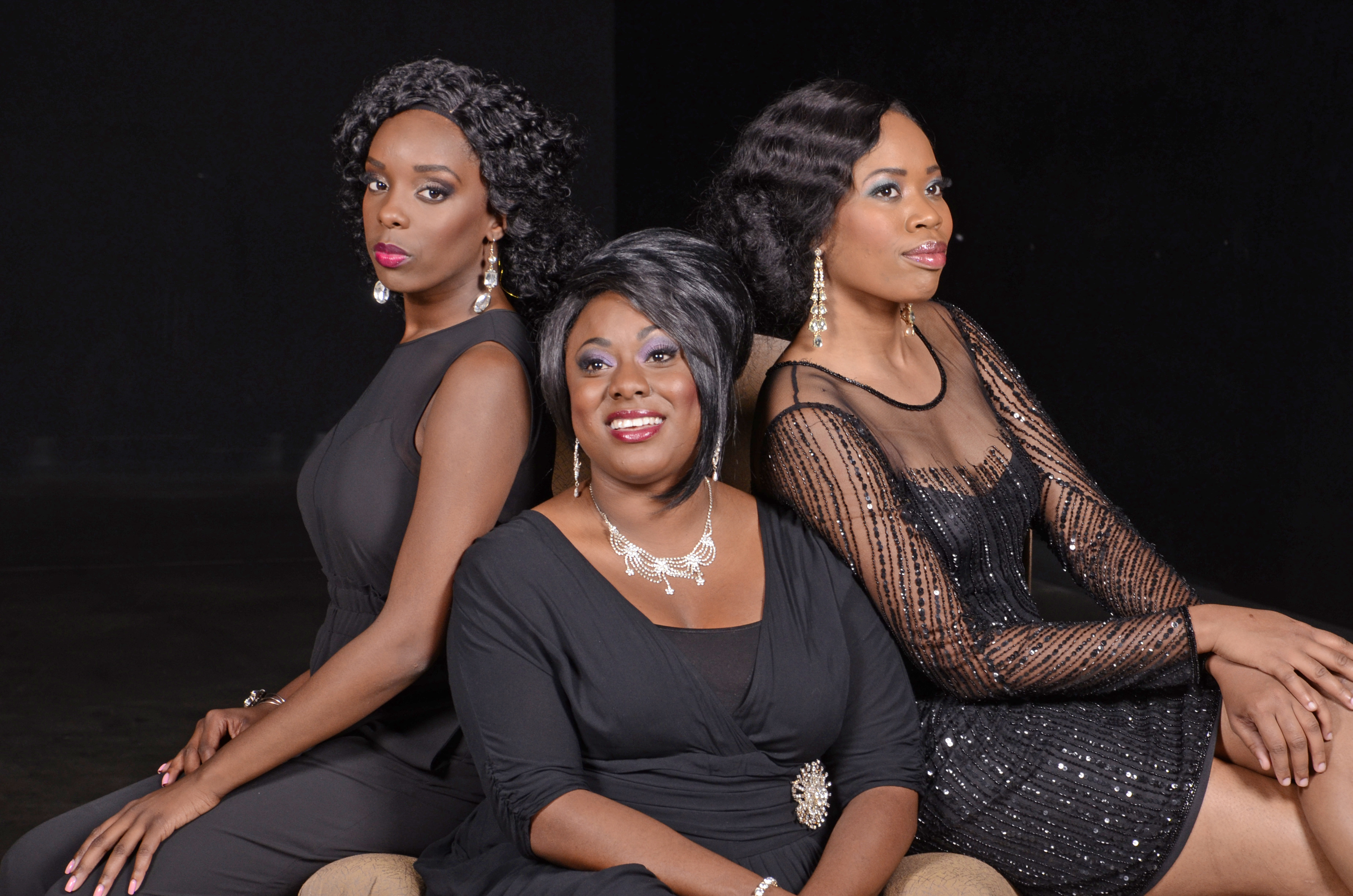 "Brintanee Perkins, Chanel Bragg and Ebony Green in Black Theatre Troupe's 2013 ""Tellin' It On The Mountain."" (Photo by Laura Durant)."