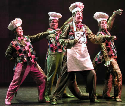"Childsplay's 2007 production of ""Petite Rouge"" featured JoAnn Yeoman's choreography. (Photo Credit Unknown)"