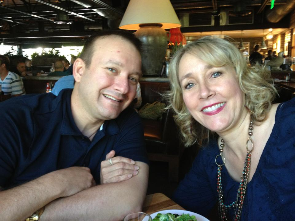 Award-winning costume designer Connie Furr-Soloman enjoys dinner out with her husband, Michael.