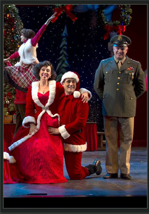 "Debby Rosenthal and unidentified actors in Phoenix Theatre's 2013 production of ""White Christmas."" (Photo by Sara Chambers)"