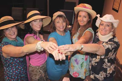 "Cast of ""The Dixie Swim Club"" at Fountain Hills Theatre, 2011. Left to right: Donna Kaufman (Dinah), Amy Serafin (Lexie), Hilary Hirsch (Sheree), Kaydee Wilson (Jeri Neale), Laura Pollard (Vernadette). (Photo Credit Unknown)"