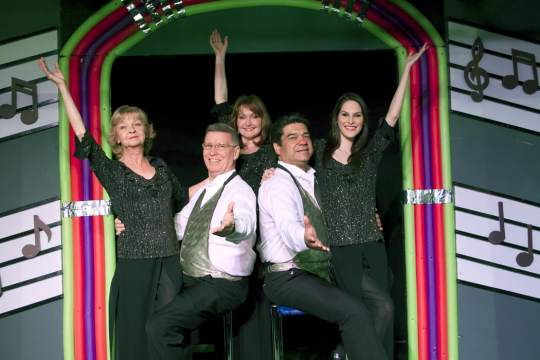 "The 2014 revival of ""Broadway Jukebox"" at Fountain Hills Theatre starred Noel Irick, Peter Hill, Janine Smith, Alex Gonzalez and Jacqui Notorio. (Photo credit unknown)"