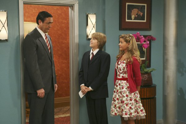 Hamilton Mitchell, Cole Sprouse and Gilland Jones in The Suite Life on Deck