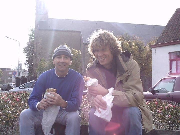John Gentry and David Dickinson on tour in the Netherlands in 2010. (Photo courtesy of Jon Gentry)