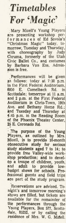 Arizona Republic, Dec. 8, 1967