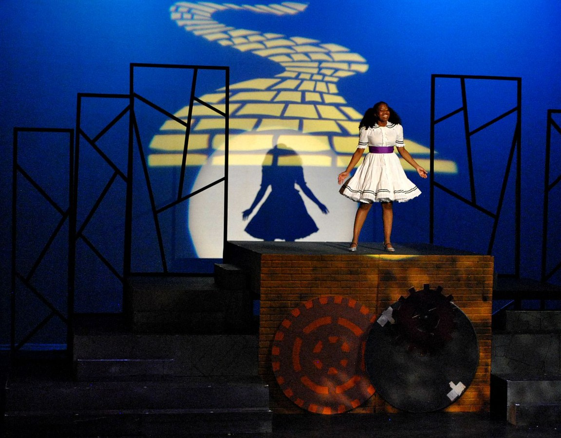 Mesa Encore Theatre. 2015. The Wiz. Jacqueline Monet as Dorothy. (Photo by Sarah Rogers)