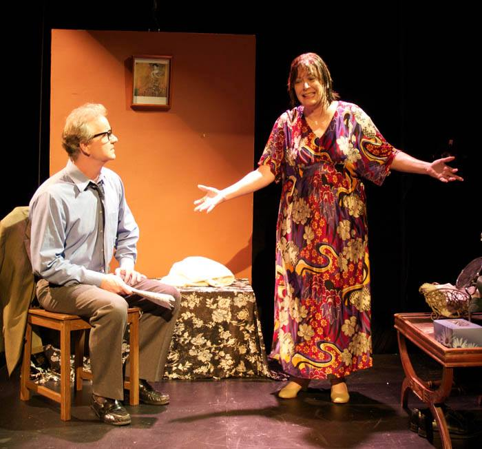 "David Weiss and Janis Ash Webb in ""M. Butterfly"" at Nearly Naked Theatre. (Photo Credit Needed)"