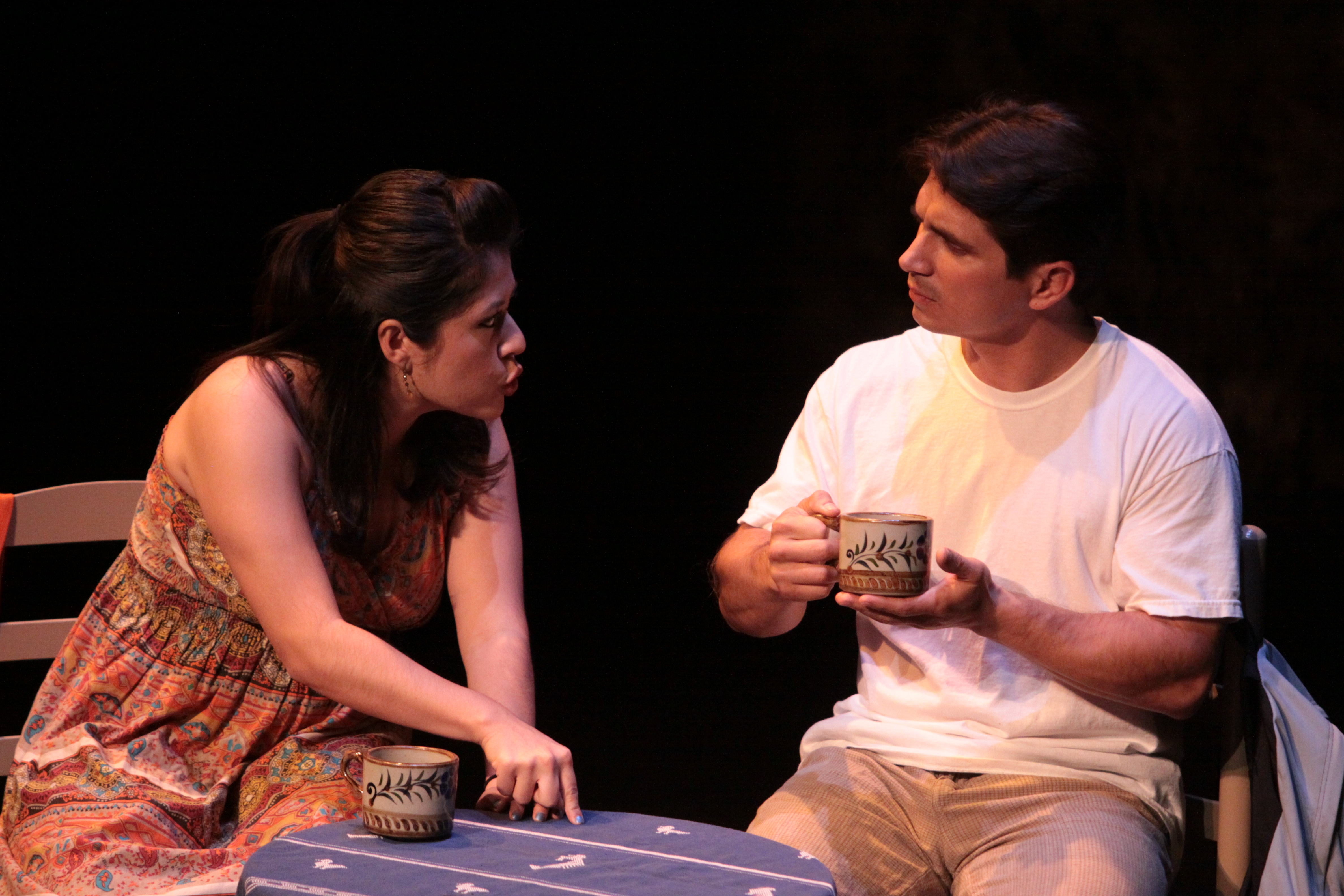 "Raynell Gonzales (L) and Andrew Valenzuela in ""Amexica: Tales of the Fourth World"""