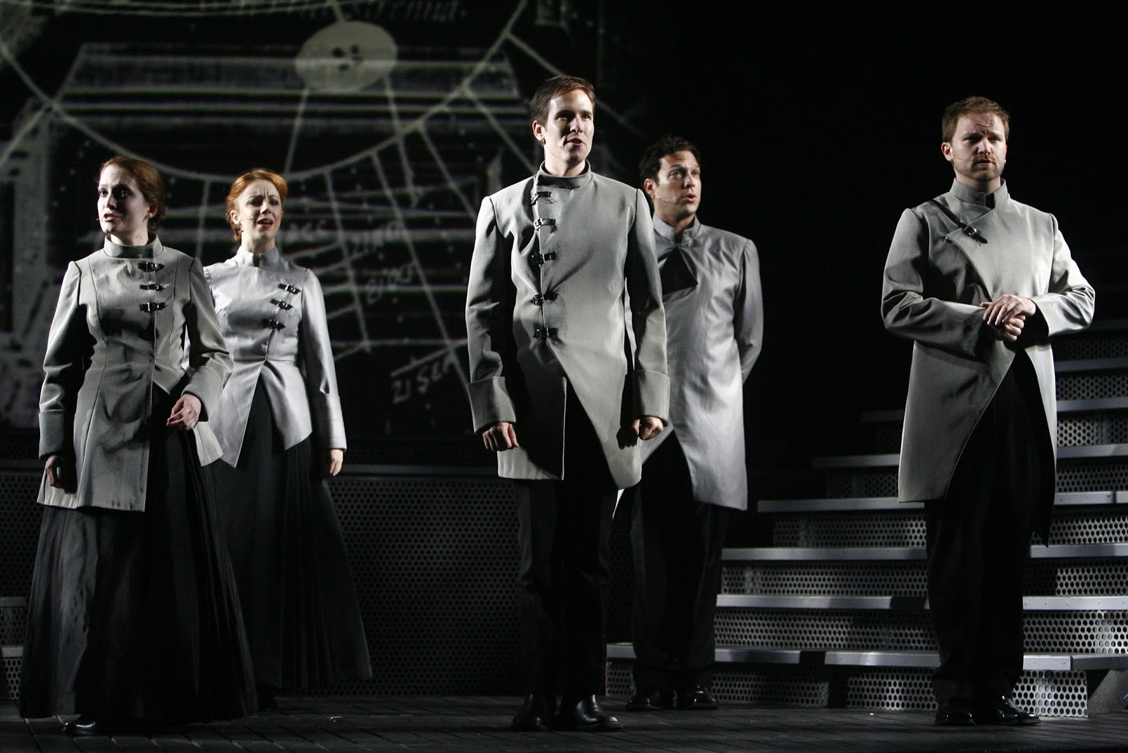 "Nick Cartell (center) in ""Frankenstein."" (Photo credit unknown)"