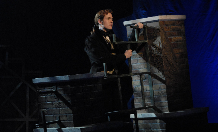 "Nick Cartell in Phoenix Theatre's 2009 production of ""Les Miserables."" Photo by Laura Durant."