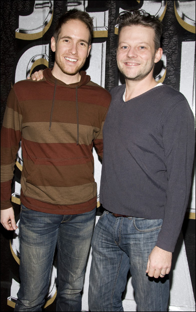 "Nick Cartell with his ""Jesus Christ Superstar"" co-star, Jeremy Kushnier. (Photo credit unknown)"
