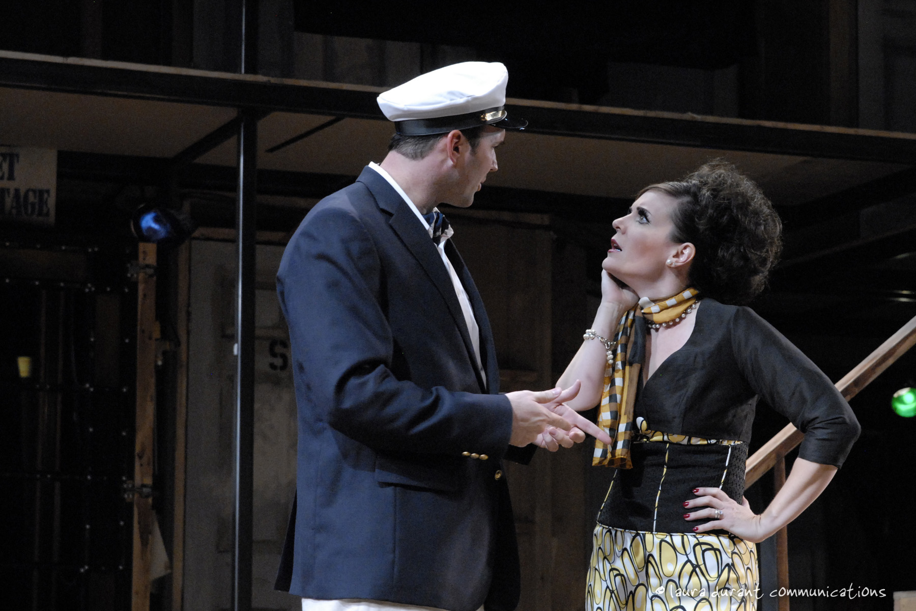 "Joseph Kremer and Maren Maclean in Phoenix Theatre's 2010 production of ""Noises Off."" (Photo by Laura Durant)"