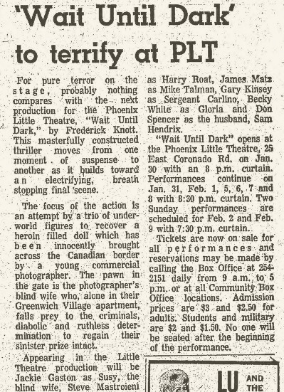 Clipping from the Jan. 24, 1969 Scottsdale Daily Progress.