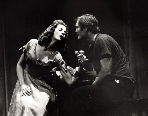 "Jacqueline Gaston and Rick Grove in the 1976 production of Tennessee Williams' ""A Streetcar Named Desire"" at Phoenix Little Theatre. Jacqueline played Stella in a PLT production 10 years earlier. (Photo from the collection of Jacqueline Gaston.)"