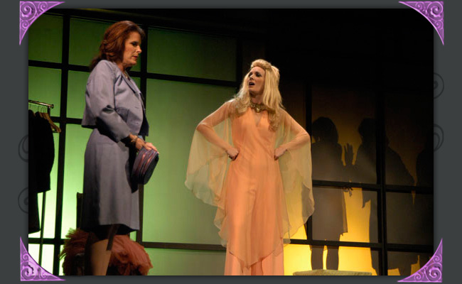 "Robyn Allen is Mary and Maren Maclean is Crystal in Phoenix Theatre's 2006 production of ""The Women."" (Photo by Laura Durant)"