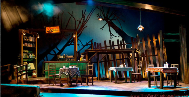 """Spitfire Grill,"" 2011, Phoenix Theatre, Lighting by Michael J. Eddy (Photo by Eric Sallee)"