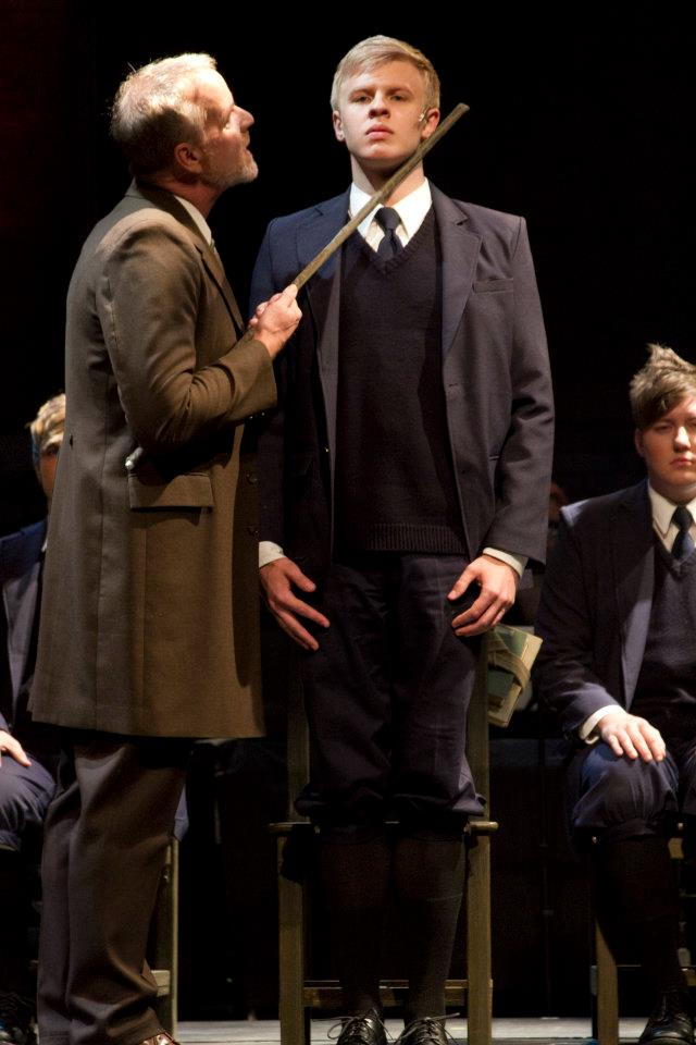 "David Weiss, Cooper Hallstrom and Evan Tyler Wilson in ""Spring Awakening,"" 2012, Phoenix Theatre. (Photo by Sara Chambers)"