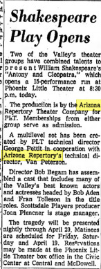 Phoenix Theatre Anthony & Cleopatra April 1963 001