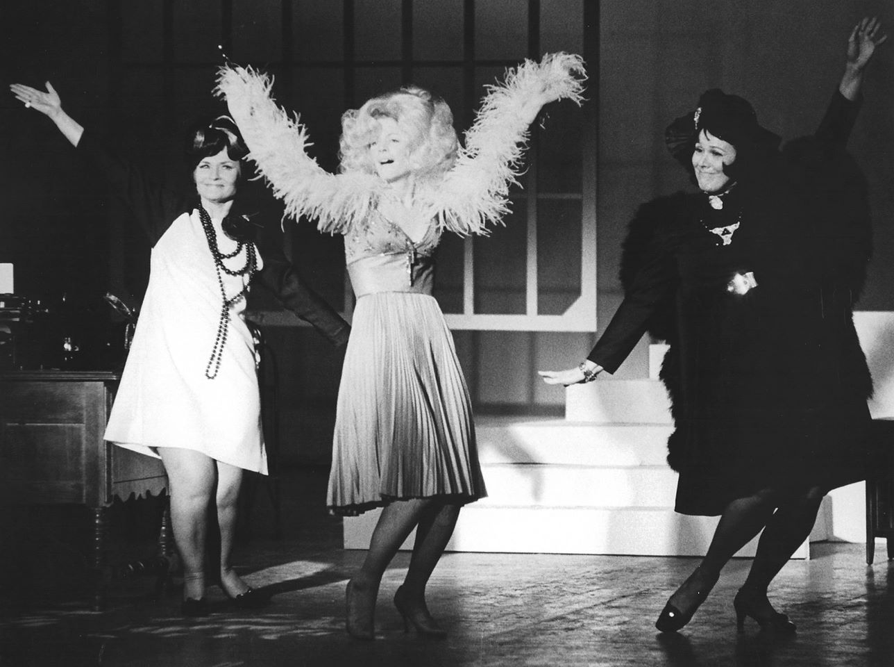 "Barbara Walker McBain, Elaine Morrow and Betty Heisley co-star in the 1973 production of ""Mame"" at Phoenix Little Theatre, with choreography by Gary Naylor. (Photo credit unknown)."