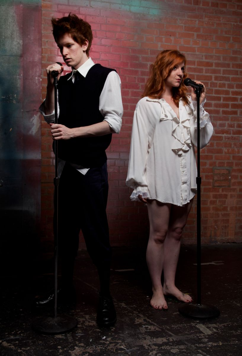 "Matthew Cordon and Cassie Chilton in ""Spring Awakening,"" Phoenix Theatre, 2012. (Photo by Jerry O'Conner)"