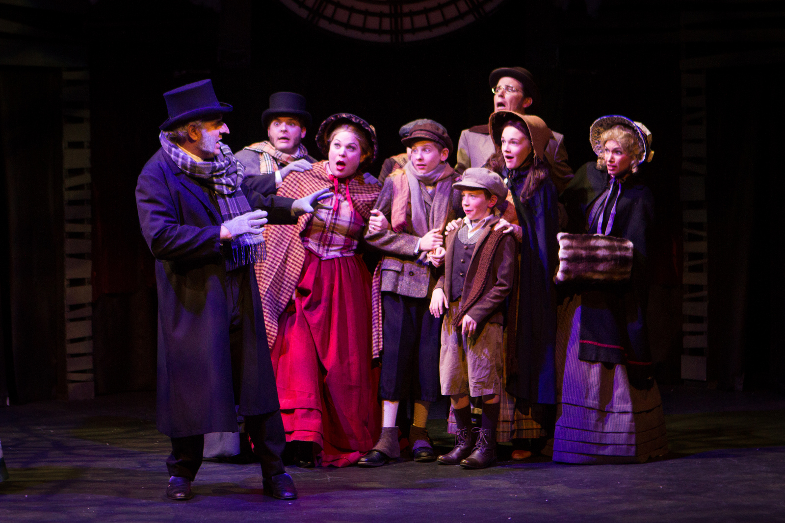 "The cast of the 2013 production of ""A Christmas Carol"" at Southwest Shakespeare Company. (Photo by Devon C. Adams)"