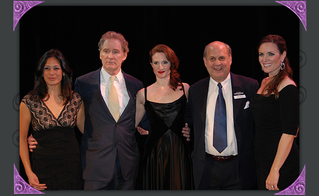 "Lana Buss, Kevin Kline, Justine Hartley and Jared Sakren at ""An Evening with Kevin Kline,"" a fundraiser for Southwest Shakespeare Company, 2012. (Photo Credit Unknown)"