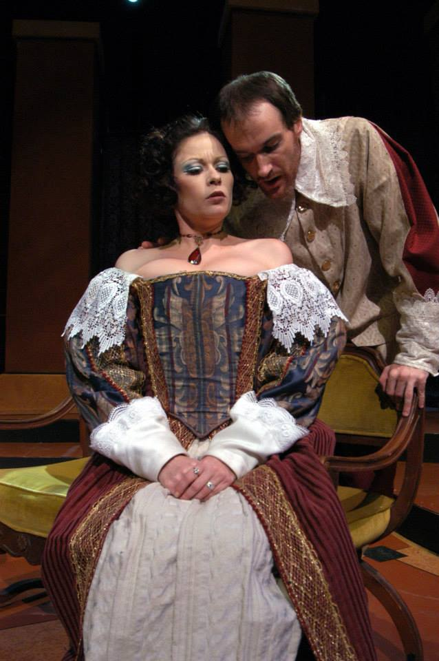 "Jennifer Banda and Christopher Miller in Southwest Shakespeare Company's 2004 production of ""Cardenio."" (Photo credit unknown)"