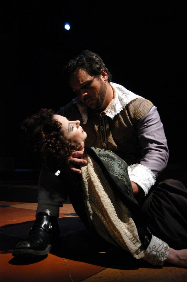 "Quetta Lulubelle Carpenter and Cale Epps in Southwest Shakespeare's 2004 production of ""Cardenio."" (Photo credit unknown)"