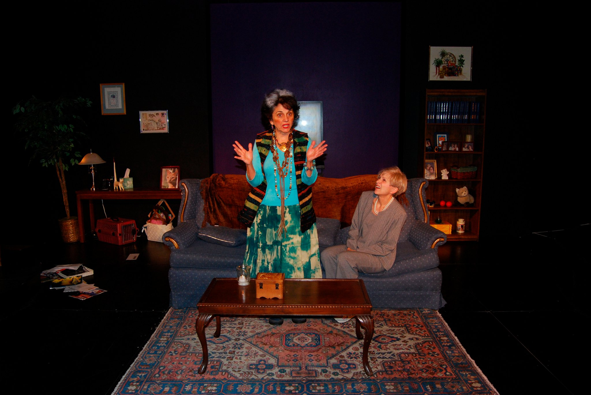 "Delores D'Amore Goldsmith and Judy Rollings in Hal Corley's ""The Death Bite"" at Actors Theatre Studio, 2007. (Photo by Mark Gluckman)"