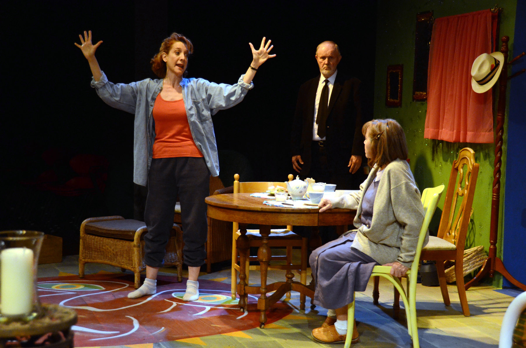 "Debra Rich, Don Erickson and Judy Lebeau in ""The Road to Mecca,"" 2012, Theatre Artists Studio. (Photo by Mark Gluckman)"