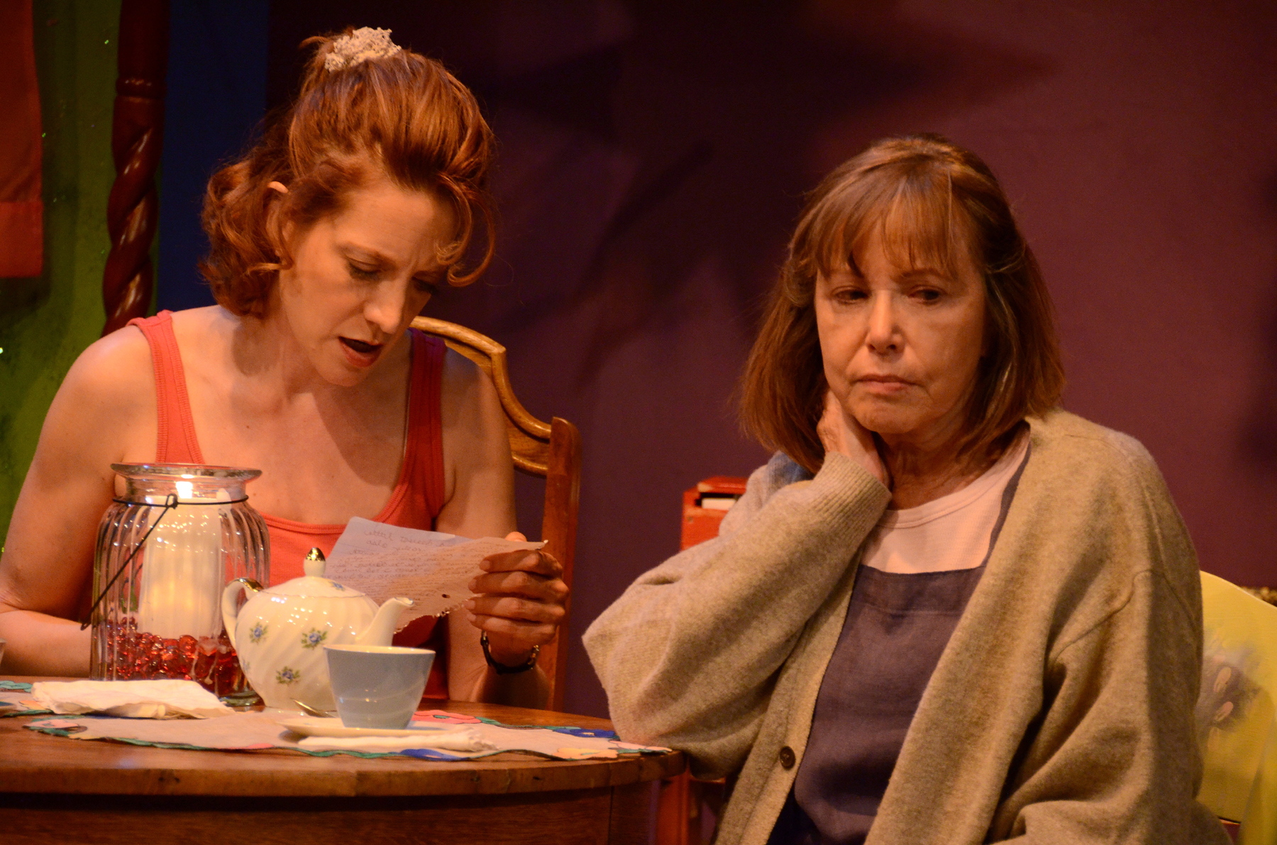 "Debra Rich and Judy Lebeau in Theatre Artists Studio's 2012 production of ""The Road to Mecca."" (Photo Credit Unknown)"