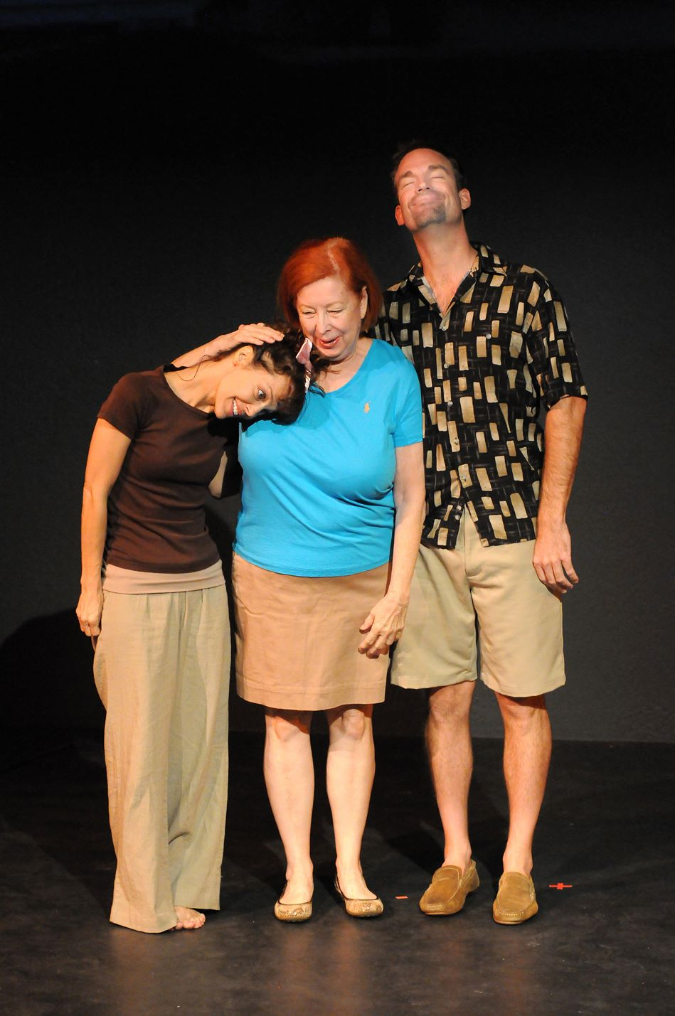 "Leslie Ariel Tutnick-Machbitz, Skye Ayers, Kent Wellborn, ""Barking at Butterflies."" (Photo by Bill Phillips)"