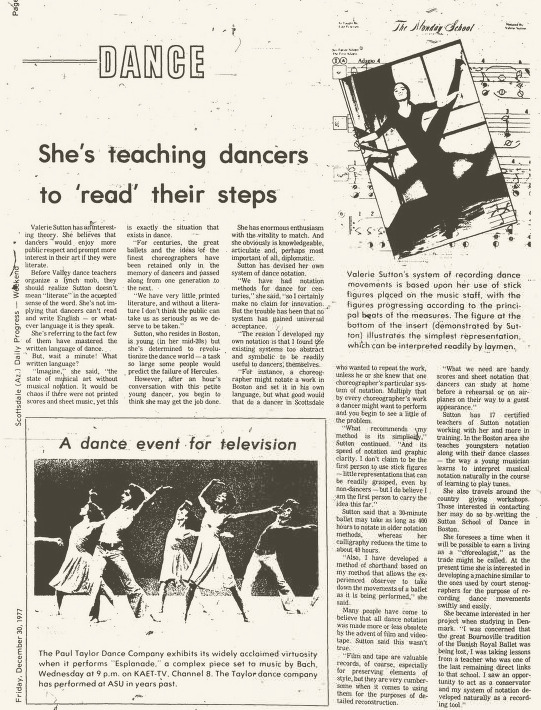 Valerie Sutton, Scottsdale Progress, Dec. 30, 1977