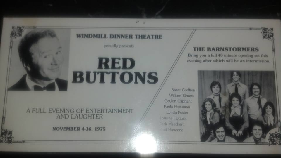Windmill Dinner Theatre, Table Mats, 1975, Red Buttons