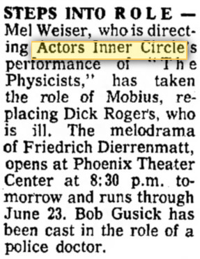 actors inner circle 1968 june the physcisits