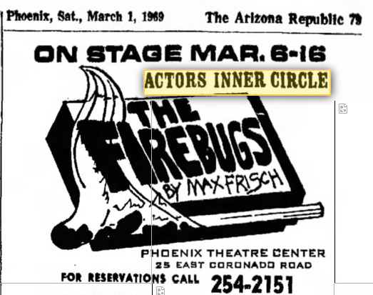 actors inner circle 1969 march the firebugs