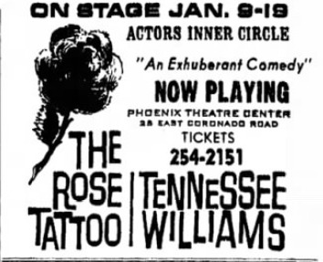 actors inner circle rose tattoo jan 1969