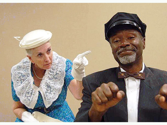"Jacqueline Gaston and T.A. Burrows in ""Driving Miss Daisy'' at Algonquin Theatre in 2009. (Photo credit unknown)"