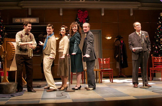 "The cast of Arizona Theatre Company's 2008 production of ""It's A Wonderful Life: A Live Radio Play"" featured Paul Gibson, Kyle Sorrell, Maren Maclean, Kerry McCue and Bob Sorenson. (Photo by CJ Mascarelli)"