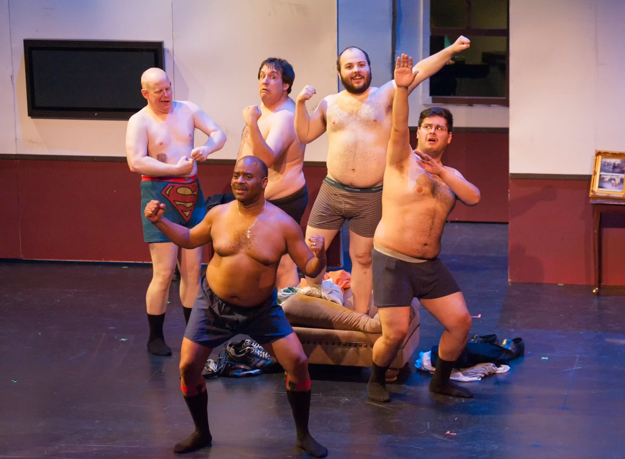 "Wade Moran's camera captures the boys in the raw (well, semi-raw). ""The Full Monty,"" Mesa Encore Theatre, June 2014."