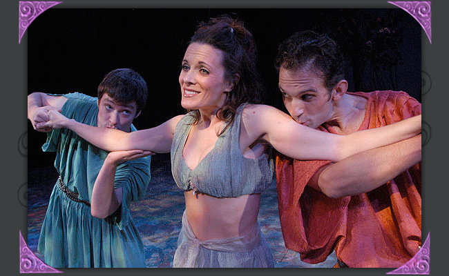 "Kyle Sorrell, Maren MacLean and Jason Barth are the young lovers in ""A Midsummer Night's Dream"" at Southwest Shakespeare Company, 2005. (Photo by Laura Durant)"