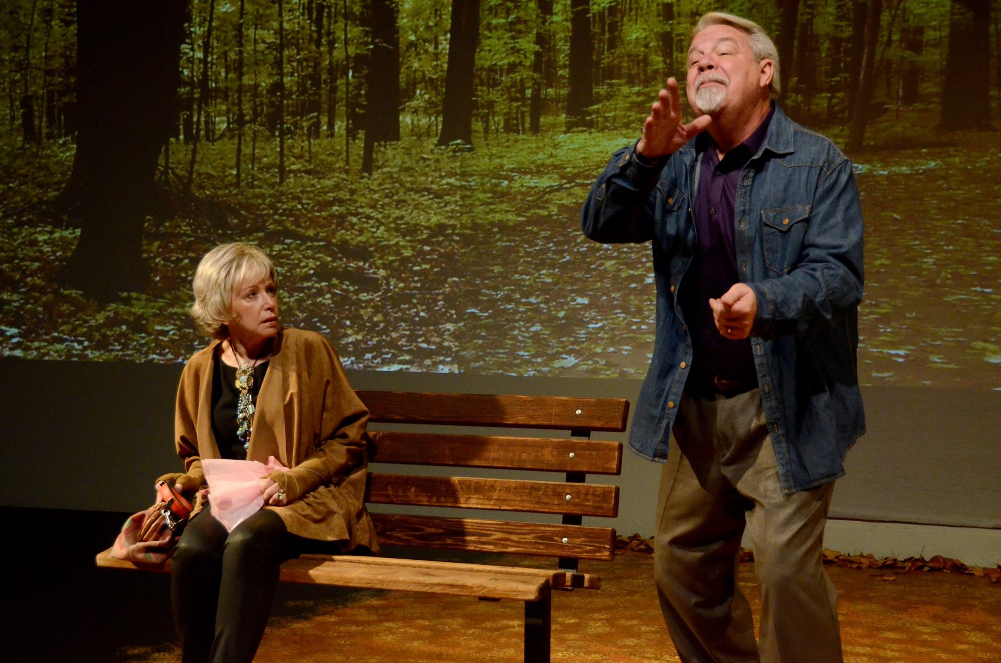 "Judy Lebeau and Michael Fleck in ""The Last Romance"" at Theatre Artists Studio, 2014. (Photo by Mark Gluckman)"