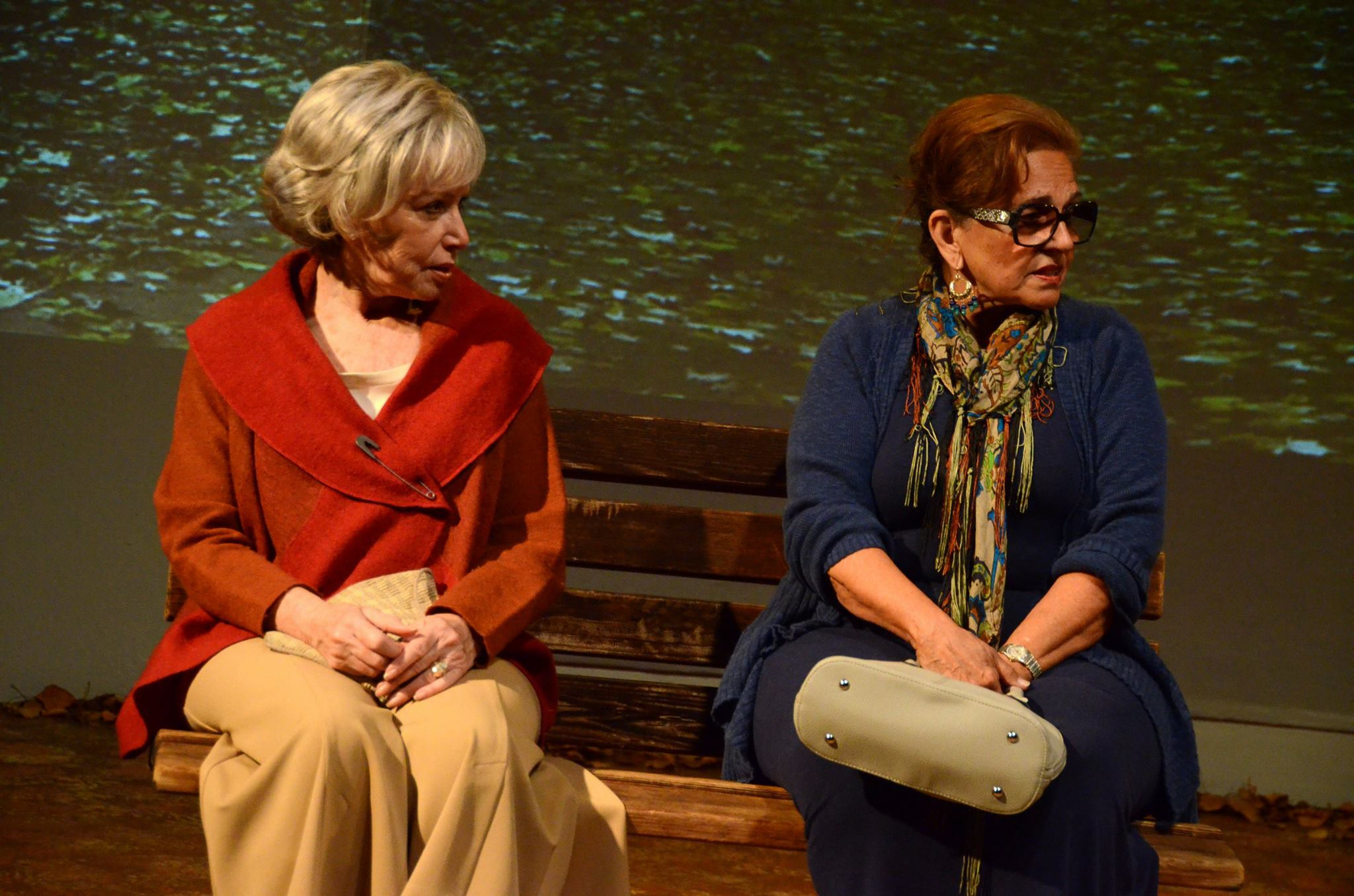"Judy Lebeau and Delores D'Amore Goldsmith in ""The Last Romance"" at Theatre Artists Studio, 2014. (Photo by Mark Gluckman)"