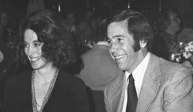 Carol and John MacLeod at a 1975 dinner celebrating the All-Star Game in Phoenix. (Photo courtesy of Carol MacLeod)