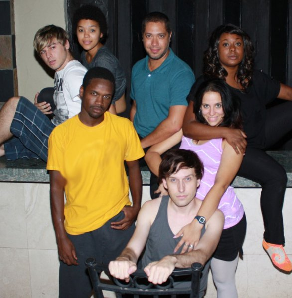 "The cast of ""Rent"" at Scottsdale Desert Stages Theatre, 2012. (Photo by Corin Grimm)"