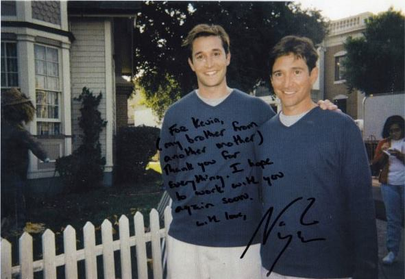 "Noah Wylie autographed this photo to Kevin when Kevin was his understudy on the long-running television series, ""ER."""