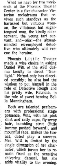 Phoenix Theatre, 1970, Gaslight A