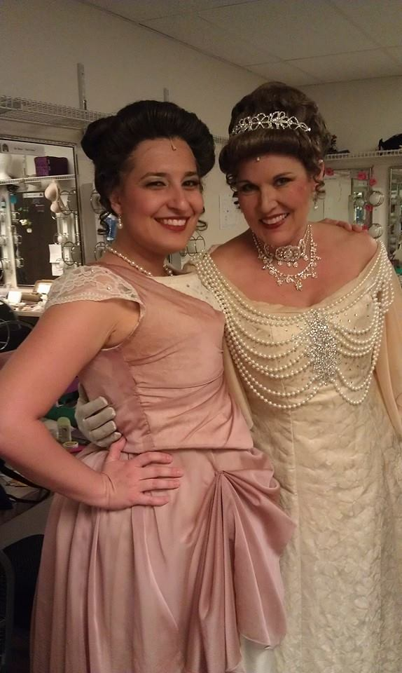 "Marie Annette and Kathleen Berger backstage at Arizona Broadway Theatre's 2014 production of ""The Secret Garden."" (Photo credit unknown)"